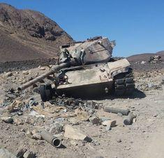 Destroyed Houthi in Marib, Yemen. Patton Tank, Modern Warfare, Panzer, Military Vehicles, Wwii, Tanks, Armour, Environment, World War Ii