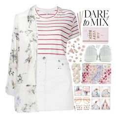 """""""""""Pattern Mix Master"""" - Contest"""" by arierrefatir ❤ liked on Polyvore featuring IRO, Accessorize, L. Erickson, ban.do, HUGO, Nasty Gal, Chloé, R13, Zara and Acne Studios"""
