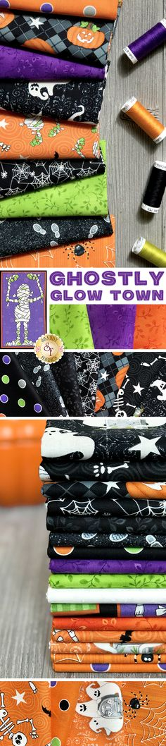 Quilt Kit 100/% Cotton Henry Glass Fangtastic with Glow Halloween  Panel