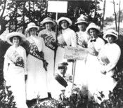 Gertrude Weil (far left), with other prominent North Carolina suffragists. Gertrude Weil's passion for equality and justice shaped the course of her long life. Weil stood courageously at the forefront of a wide range of progressive and often controversial causes, including women's suffrage, labor reform and civil rights.