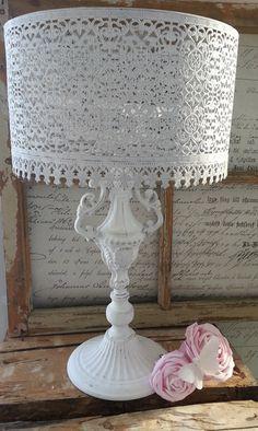lace lamp from sweden so beautiful !!!  Shabby chic home interior design dekoration white rose idea style vintage boho swedish