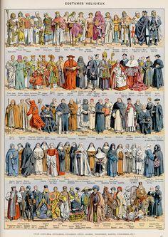 costumes religieux-couleurs