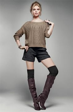 Fall...Love the boot socks and flannel shorts. Yep, doing that this fall. @Stephanie McCarty what do you think?
