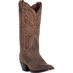 "These authentic handmade leather womens cowboy boots from Dan Post feature a 12"" shaft, r toe, and leather outsole. Made with only premium materials and the signature Dan Post ""Handcrafted Cushion Com"