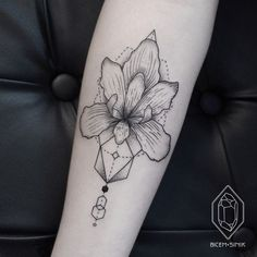 women orchid tattoo