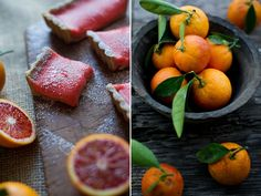 Blood Orange Bars with Brown Butter Crust? Delish!