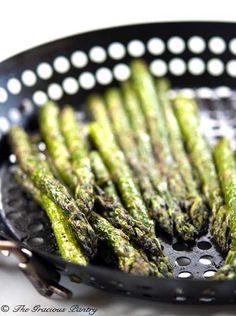 Clean Eating BBQ Garlic & Dill Asparagus  www.TheGraciousPantry.com