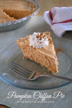 No Bake Pumpkin Chiffon Pie