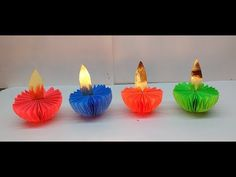 Diy How to make Paper Diyas in 15 minutes for Diwali Decoration Origami, Diya Lamp, Diy Diwali Decorations, Diy Decoration, Rangoli Designs, How To Make Paper, Diy Paper, Living Room Decor, Bedroom Decor