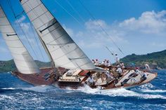 White Wings With An All Women Crew (Photo by Christophe Jouany / Les Voiles de Saint-Barth).