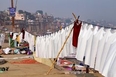 Life death and laundry. You see it all on the Ganges riverfront in Varanasi India. #travel #india @onthegotours