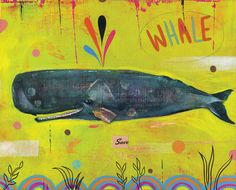 Retro Whale by Chris Lyles | Thumbtack Press: Authentic. Affordable. Art.