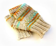 Beige mittens fingerless mittens water by FruitofPhalanges on Etsy, $30.00