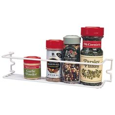 "Grayline 40505 11.5"" X 2.75"" X 2.5"" Vinyl Coated Wire Spice Rack"