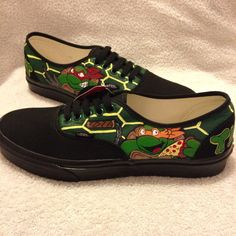 Teenage Mutant Ninja Turtles custom Vans BLACK by KivadenoCustoms
