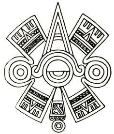 "Ollin. Aztec glyph symbol of  ""centered"" Eye or Third Eye."