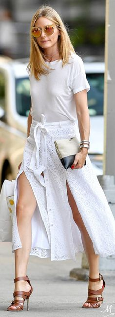 Olivia Palermo in Breezy Summer Whites