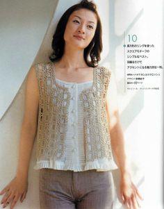 Crochet lacy vest - charts