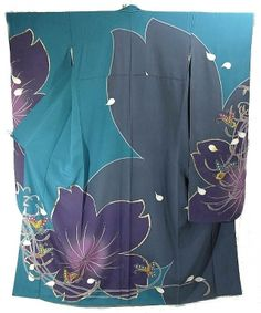 Beautiful contemporary furisode and juban set! Those colors are just gorgeous! $500 #kimono #furisode