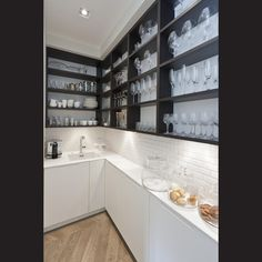Incredible cronin award winning kitchen design and manufacture picture for scullery pantry trend concept Kitchen Pantry Design, New Kitchen Designs, Prep Kitchen, Kitchen Cabinet Colors, Kitchen Interior, Kitchen Storage, Kitchen Cabinets, Kitchen Gallery, Kitchen Photos