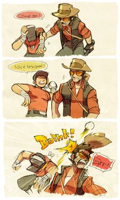 Tf2 Comics, Funny Comics, Tf2 Sniper, Tf2 Scout, Tf2 Funny, Team Fortress 2 Medic, Tf2 Memes, Overwatch Hanzo, Team Fortess 2