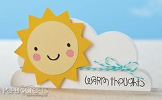 Sun & Clouds Card by @Katie Murphy Gehring