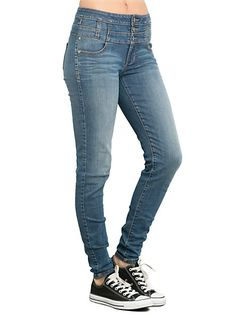 LOVEsick Medium Indigo High-Waisted Skinny Jeans   Hot Topic
