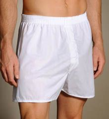 Men's Underwear - Fruit Of The Loom 3 Pack White Woven Boxers 595