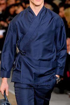monsieurcouture: Louis Vuitton F/W 2012 Mens Kimono Shirt, Men's Yukata, Mode Kimono, Culture Clothing, Chinese Clothing, Japanese Outfits, Kimono Fashion, Asian Fashion, Traditional Outfits