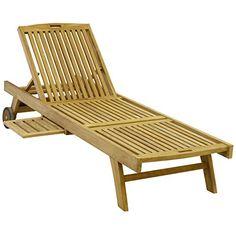 DIVERO Sonnenliege Aus Teakholz Relaxliege Liege Holz Divero