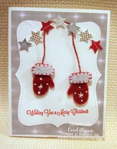 Ink, Shimmer and Shine!: My Card Gallery - Another Noel Paper Pumpkin alternative card. I love these little mittens!