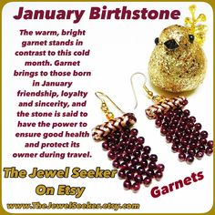 Give the gift of Garnets to the January Birthday Girl!    #TeamLove #Vintage #Jewelry #Birthstones  #PhotoChallenge