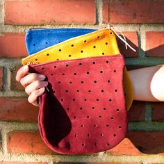 Pine & Boon Primary Colors Dot Pouch #pineandboon #seattle