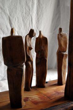 #Esculura fusta - Paisatge amb figures / #wood #sculpture - Landscape with Figures