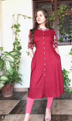 Kurtis & Kurtas Women Cotton Blend A-line Solid Kurta Set With Legging Kurta Fabric: Rayon Pattern: Embroidered Multipack: Single Sizes:  M (Bust Size: 38 in Length Size: 42 in)  L (Bust Size: 40 in Length Size: 42 in)  XL (Bust Size: 42 in Length Size: 42 in)  XXL(Bust Size: 44 in Length Size: 42 in) Country of Origin: India Sizes Available: M, L, XL, XXL, XXXL   Catalog Rating: ★4 (472)  Catalog Name: Women Cotton Blend A-line Embroidered Kurta Set With Legging CatalogID_1380891 C74-SC1001 Code: 574-8268428-