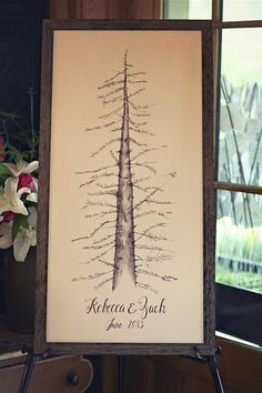 Start your new family tree with a rustic poster | Brides.com