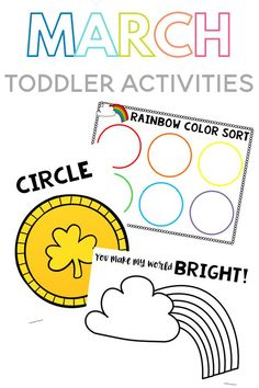 Fun toddler activities for the month of March and St. Patrick's Day including play dough mats, rainbow finger painting, a color sorting mat and much more! Fun Activities For Toddlers, Parenting Toddlers, Learning Activities, Toddler Books, Toddler Play, Book Suggestions, Book Recommendations, Sorting Colors, Best Parenting Books