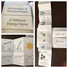 Advantages and Disadvantages of Different Energy Sources.  Included are Coal, Oil, Natural Gas, Nuclear Power, Biomass, Wind, Hydropower, Geothermal, and Solar.