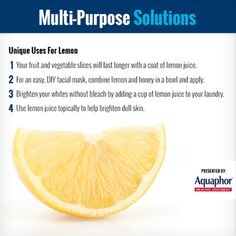 Check out all the amazing uses of one of my favorite fruits: lemons! For more ideas, click this pin.