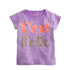She'll be the belle of the playground in a tee that's so soft and cute, she'll never want to take it off. When she does? It's machine washable, so she can have it back in about an hour. <ul><li>Cotton.</li><li>Machine wash.</li><li>Import.</li></ul>