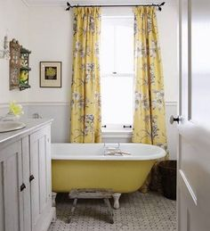 yellow-clawfoot-tub.jpg (492×542)