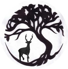 This combines two images I like: the tree of life and the stag.