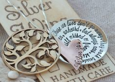 Hand stamped Hidden Message Locket - memorial jewelry - remembrance gift - necklace on Etsy, $86.00