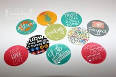 Video: Make your own Project Life flair buttons using Stampin' Up! My Digital Studio software by Claire Daly Melbourne Australi...
