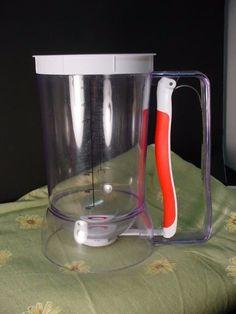 Norpro Batter Dispenser 4 cup Measuring Liquid White Red Clear Plastic #Norpro
