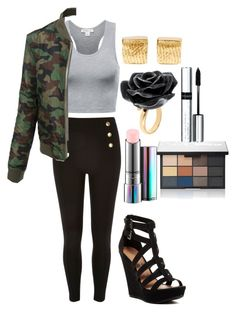 """Untitled #291"" by kerrbee9101 on Polyvore featuring LE3NO, Chinese Laundry, Cornelia Webb, Nach Bijoux, MAC Cosmetics, NARS Cosmetics and By Terry"