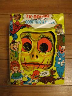 Vintage Sleestak LAND OF THE LOST ben cooper halloween costume and mask tv comic | eBay