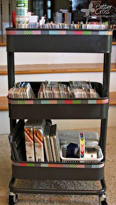 Triple the Scraps: Organizational {Friday} Raskog Cart Filled with PL