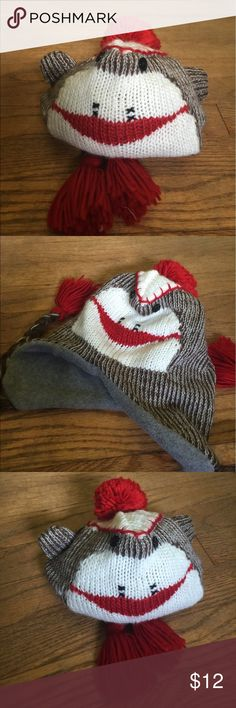 Super Cute Sock Monkey Hat #A47C_8 This is a lining Sock Monkey cap that's super warm. Accessories Hats