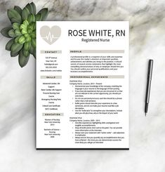 nurse resume template free cover letter nurse resume nurse cv one two page resume templates nursing resume instant download - Nursing Resume Format